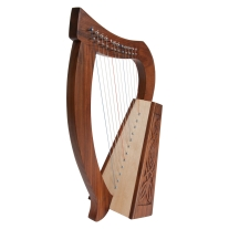 Mid East Roosebeck Baby Harp 12-String Knotwork