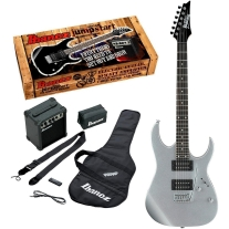 Ibanez IJRG220Z Jumpstart Electric Guitar Package in Silver