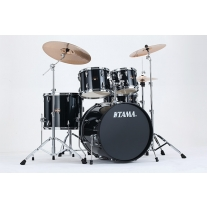 TAMA Imperialstar 5pc Complete Kit w/ Meinl HCS Cymbals in Hairline Black Finish