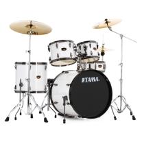 Tama Imperialstar 5-Piece Drum Set in Sugar White with Black Nickel Hardware