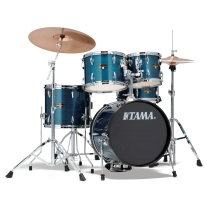 Tama IP58CHLB Imperialstar 5-Piece Complete Drum Kit - Hairline Blue