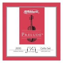 D'Addario J1010 Prelude Cello 3/4 Scale Medium Tension