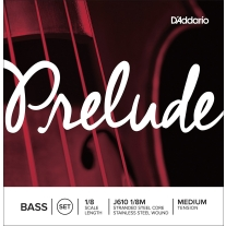 D'Addario Prelude Bass String Set 1/8 Scale Medium Tension