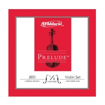 D Addario J810 Prelude Violin 1/8 Size Strings - Medium Tension