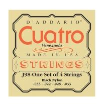 D Addario J98 Cuatro Venezuala Black Nylon String Set