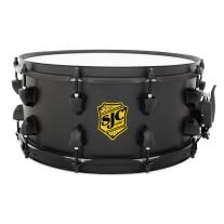"SJC Josh Dun Yellow Badge "" Crowd"" 6.5x14 1.0mm Rolled Steel Snare Drum"