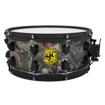 "SJC Drums Josh Dun 6.5x14 ""Trench Camo"" Snare with Black Hardware"