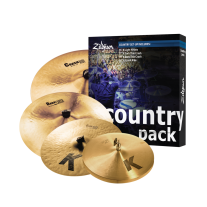 Zildjian K0801C Country Pack Cymbal Set Bundle