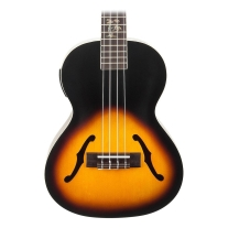 Kala Archtop Acoustic Electric Tenor Ukulele 2 Tone Sunburst