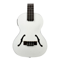 Kala Kajte Archtop Tenor Ukulele in Satin Metallic White