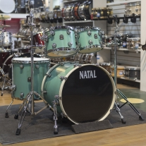 Natal Cafe Racer 4 Piece Shell Kit in Seafoam Green Hot Rod Suede