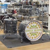 Ludwig Keystone X Fab 3 Piece Shell Kit in Vintage Black Oyster