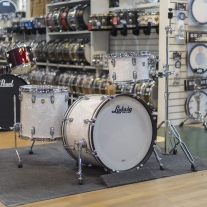 Ludwig Classic Maple Downbeat 3 Piece Shell Kit in White Marine Pearl