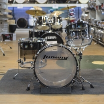 Ludwig 45th Anniversary Tri-Band Black Vistalite Drum Kit