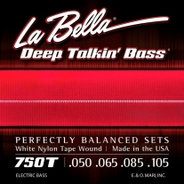 La Bella 750T White Nylon Tapewound Bass Strings