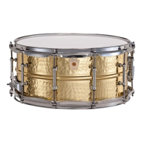 "Ludwig Hammered Brass Snare Drum - 6.5x14"" - Tube Lugs"