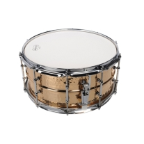 """Ludwig 6.5x14"""" Hammered Bronze Snare Drum with Tube Lugs"""