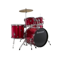 Ludwig 5 Piece Accent Drive Drum Set in Red Foil