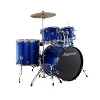 Ludwig 5 Piece Accent 5-Piece Drive Drum Set in Blue Foil