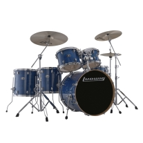 Ludwig LCEM622XBL Evolution Maple Drum Kit in Transparent Blue