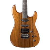 G&L Legacy HSS Ovangkol Top Electric Guitar in Natural with Ebony Board and Case