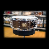 Longo 5x14 Solid Walnut Snare Drum with Maple Reinforcement Rings