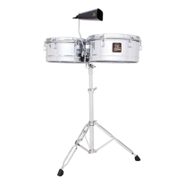 """Latin Percussion LPA256 Aspire Series 13"""" & 14"""" Timbale Set with Cowbell"""