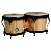 Latin Percussion - Aspire Wood Bongos - Natural