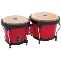 Latin Percussion Aspire LPA601-RW Wood Bongos (Red/Black)