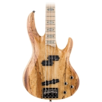 ESP Ltd RB1004SM Spalted Maple 4 String Bass with Ash Body in Natural Satin
