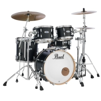 Pearl Masters Maple Complete 4 Piece Drum Shell Pack - Black Mist Lacquer