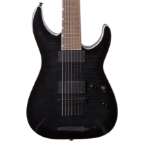 ESP LTD MH-417 Baritone Electric Guitar In See-Through Black Sunburst