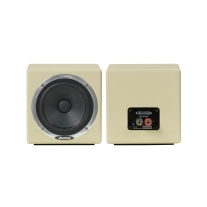 Avantone MixCubes Passive Full-Range Mini Reference Monitors in Butter Creme