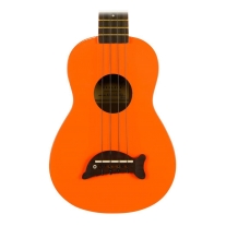 Kala Makala MK-S Dolphin Bridge Soprano Ukulele Orange w/ Gig Bag