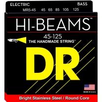 DR MR5-45 Hi-Beam Stainless Steel Medium 5-String Bass Strings