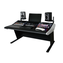 Sterling Modular Three Bay Multi-Station Console - Producer Flat Desk Top