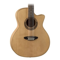 Luna Guitars Muse Acoustic-Electric 12-String Grand Auditorium Guitar - Natural
