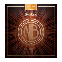 D'Addario Nickel Bronze Acoustic Guitar Strings, Light Top/Med Bottom