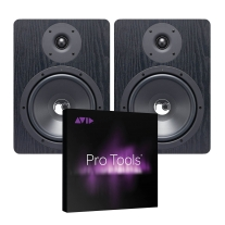"Resident Audio NF80 Bi-Amplified 8"" Mid-Field Monitor Pair & ProTools Bundle"