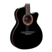Lag OC114ACE Nylon Slim Line Acoustic/Electric Guitar - Black