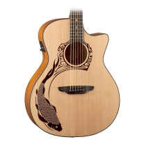 Luna Guitars Oracle Grand Concert Series Koi Acoustic-Electric Guitar