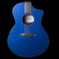 Composite Acoustics OX Acoustic-Electric Guitar Raw Carbon Fiber Blue w/ Case