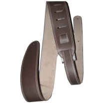 "Perri's 2.5"" Leather Guitar Strap with Contrast Stitch Brown"