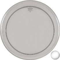 Remo P31122-C2 Coated Powerstroke 3 Bass Drum Head (22-Inch) - White Falam Patch