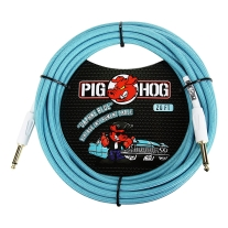 "Pig Hog PCH20DB 1/4"""" to 1/4"""" Daphne Blue Instrument Cable, 20 Feet"