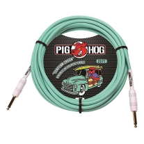 Pig Hog Instrument Cable 20ft Seafoam Green