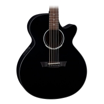 Dean Performer Plus Acoustic Electric Guitar Black Satin