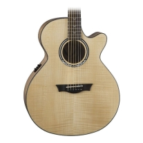 Dean Performer Ultra Flame Maple Acoustic-Electric Guitar Natural