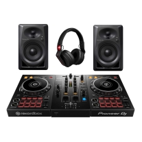 Pioneer DJ Digital DJ Package with DDJ-400, DM-40s, and HDJ-X5-K