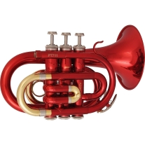 PRELUDE PT711R POCKET TRUMPET in RED